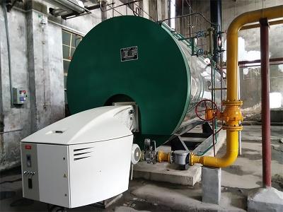 三全食品厂两台10T燃气锅炉运行中
